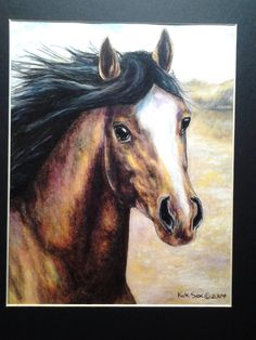 Canyon Pony  original colored pencil art by wordfirstartstudio, $32.00