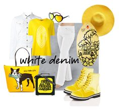 """""""white pajama jeans! yay!"""" by caroline-buster-brown on Polyvore featuring Cape Robbin, Dsquared2, Suzusan, TIKI, SW Global, Marc Tetro, Olympia Le-Tan and whitejeans"""