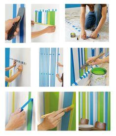 DIY Home :: DIY Painting Wall Stripes