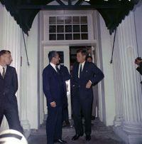 President John F. Kennedy Greets Shah Mohammed Reza Shah Pahlavi of Iran - April 12, 1962