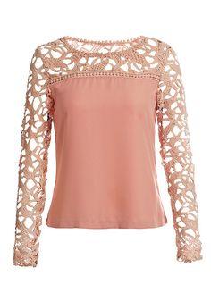 Neutral Pink Crochet Shoulder Top compartido desde www.hoycocino.es www.actiweb.es/lacocinadeamparo  lacocinadeamparo@gmail.com