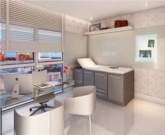 """the design of this commercial space is clean and bright, but doesn't feel like your average """"sterile"""" doctor's office. Doctors Office Decor, Medical Office Decor, Doctor Office, Home Office Decor, Clinic Interior Design, Clinic Design, Medical Design, Healthcare Design, Waiting Room Design"""