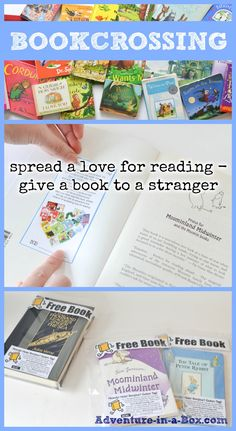 Bookcrossing for Kids: spread a love for reading - give a book to a stranger || 100 Acts of Kindness Challenge