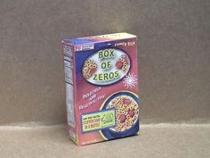 Day 41 - Box of Zeroes Cereal Box