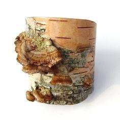 birch bark cuff bracelet by   Heather Fagan- USA ( BETULLA)