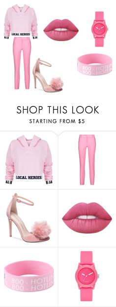 """pink"" by rmitchell1035 on Polyvore featuring Local Heroes, Raoul, Chinese Laundry, Lime Crime and Skechers"
