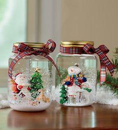 Last Minute Weihnachtsgeschenk Idee - Schneekugeln selber machen! DIY Anleitung finden Sie hier!