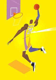 Tribute to Kobe Bryant, the american legendary basketball player. Basketball Posters, Basketball Art, Magazine Illustration, Flat Illustration, Kobe Bryant, Illustrations Posters, Drawing, Artworks, Plant