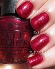 Red Fingers and Mistletoes from the OPI Holiday 2014 Gwen Stefani Collection
