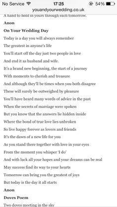 Perfect wedding poem