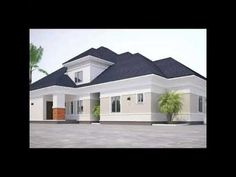 Architectural designs and constructions. Construction of a bungalow with pent. Bungalow Style House, Bungalow House Plans, Precast Concrete, Concrete Design, Concrete Walls, Duplex House Design, My House Plans, Traditional House, Home Interior Design