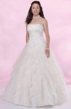 Floor-length Strapless Sleeveless White Wedding #Dress Style Code:00254 $149