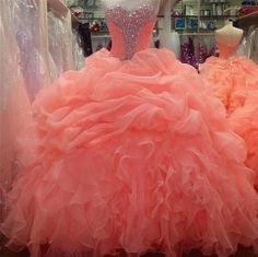 Coral Dresses for Sweet 16