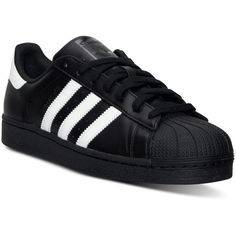 adidas Men's Superstar Casual Sneakers from Finish Line ($80) ❤ liked on Polyvore featuring men's fashion, men's shoes and men's sneakers