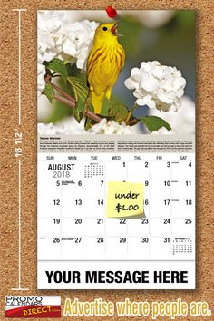 2021 Garden Song Birds Wall Calendars low as Advertise your business, organization or event logo and ad message the entire year! Promotional Calendars, Wall Calendars, Garden Birds, Business Organization, Holiday Cards, Messages, Logo, Christian Christmas Cards, Logos