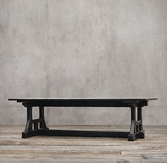 "DINING TABLE 120""L x 48""W x 30""H ANTIQUED NATURAL ELM"