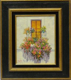 Aguilar : Window. Medium: Oil on wood Measurements (cm): 44x39 Canvas measurements (cm): 27x22 Interior frame: Yes. Pretty painting in which the artist combines a mastery of colour with the contrast of luminosity. Aguilar is known at national level as a painter, so the purchase of one of his works represents a sure investment. $192.28