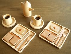 Wooden Toy Breakfast
