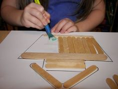 Building Noah's ark with Popsicle sticks