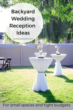 With a little creativity and planning, you can create a backyard venue that is the talk of the neighborhood. Click for a few classy, budget-friendly, outside wedding ideas that are easy to implement in your own outdoor space. Outside Wedding, Wedding Reception, Wedding Ideas, Outdoor Projects, Diy Projects, Outdoor Decor, Best Budget, Party Planning, Small Spaces