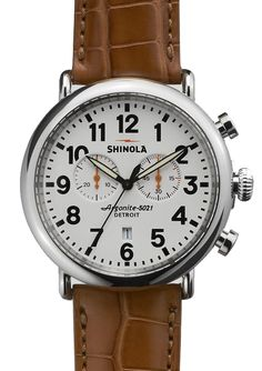 Shinola Runwell 47mm Alligator Chrono  #fathersday #gift #dad