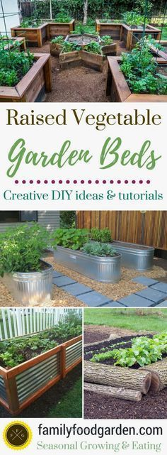 Gardening Diy Raised garden beds add a lot of beauty to a garden. They're also excellent for drainage, warming up the soil faster in the springtime and a little higher for easier harvesting. They can make your garden look amazing! There are a many designs Raised Garden Bed Plans, Raised Bed Garden Design, Building A Raised Garden, Raised Beds, Cheap Raised Garden Beds, Garden Bed Layout, Diy Garden Bed, Raised Patio, Raised Planter