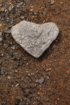 Heart shaped stone, Tabernas Desert, Almeria.