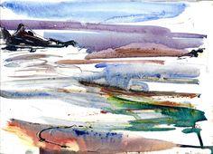 Trefin Bay 3, watercolour sketch by Adrian Homersham