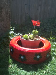 Just finished my ladybug inspired recycling project and wanted to share.  It was quick and fun!