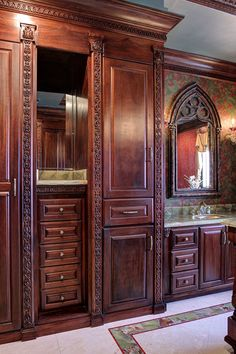 White River Hardwoods 800-558-0119 | Bath Gallery | Hardwood Mouldings & Architectural Woodcarvings