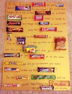 Chocolate bar birthday card for my Dad :)