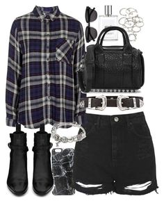 """""""Outfit for summer"""" by ferned ❤ liked on Polyvore featuring moda, Casetify, Topshop, Yves Saint Laurent, philosophy, Forever 21, B-Low the Belt, Pandora, Alexander Wang e women's clothing - clothing womens online, womens clothing s, womens sale clothing"""