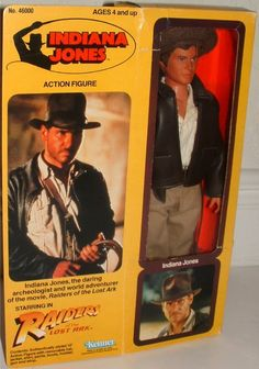 KENNER: 1981 Raiders of the Lost Ark Indiana Jones Action Figure or super manly ken doll. Vintage Toys 1970s, Vintage Games, Retro Toys, Vintage Dolls, 1980s Toys, Vintage Barbie, Indiana Jones, Archie Comics, Childhood Toys