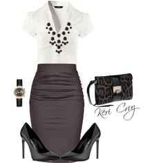 """Business Professional Outfit"" by keri-cruz on Polyvore #cynthiawhiteandassociates #personalbrand #workattire"