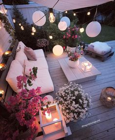 Cozy place via by Ideas Terraza, Deco Champetre, Inspire Me Home Decor, Dream Rooms, Backyard Patio, Garden Inspiration, Daily Inspiration, Fashion Inspiration, Decorating Your Home