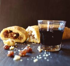 La rocciata - a rustic apple roll stuffed with pine nuts, walnuts, cinnamon & golden raisins. Umbria.