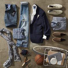 "BANANA REPUBLIC, TheNewBR, ""The Casual Weekend Wardrobe Essentials"", pinned by Ton van der Veer"