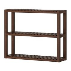 MOLGER, Wall shelf, dark brown