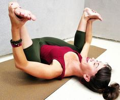 Happy Baby is a great asana #yogalife #yoga