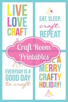 Colorful Free Craft Room Printables from @Linda Bruinenberg Bruinenberg Craftaholics Anonymous®