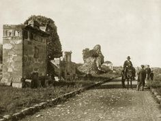 Rome, Italy - Appian Way, 1893 Appian Way, Roman Roads, Historical Photos, Past, Rome Italy, City, Places, Painting, Amazing