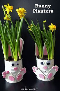 easter crafts for kids . easter crafts for toddlers . easter crafts for adults . easter crafts for kids christian . easter crafts for kids toddlers . easter crafts to sell Easter Craft Activities, Tin Can Crafts, Bunny Crafts, Easter Crafts For Kids, Diy And Crafts, Easy Crafts, Easter Decor, Flower Crafts, Crafts With Tin Cans