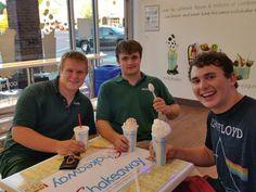Wesleyan football players love our milkshakes and smoothies!