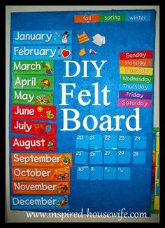 Inspired-Housewife: DIY Felt Board Tutorial classroom, home, playroom