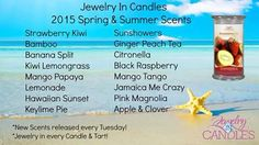 Take a look at our 2015 spring and summer scents www.jewelryincandles.com/store/charissacurtis