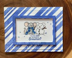 also uses the Diagon-illy stencil and Incredible Indigo ink from Kraftin' Kimmie Stamps