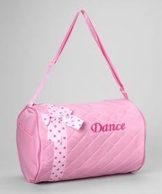 Take a look at this Pink Bow 'Dance' Duffel Bag by Seesaws & Slides on #zulily today!