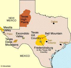 Texas Wine Regions: Click the area and explore