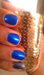 """wet n wild """"saved by the blue"""" + nicole by opi """"it's not me, it's blue"""""""