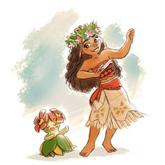 Check out these great Pokemon/Moana crossovers Disney Kunst, Arte Disney, Disney Magic, Disney Crossovers, Cartoon Crossovers, Pokemon Funny, Pokemon Fan Art, Pokemon Stuff, Disney Princess Art